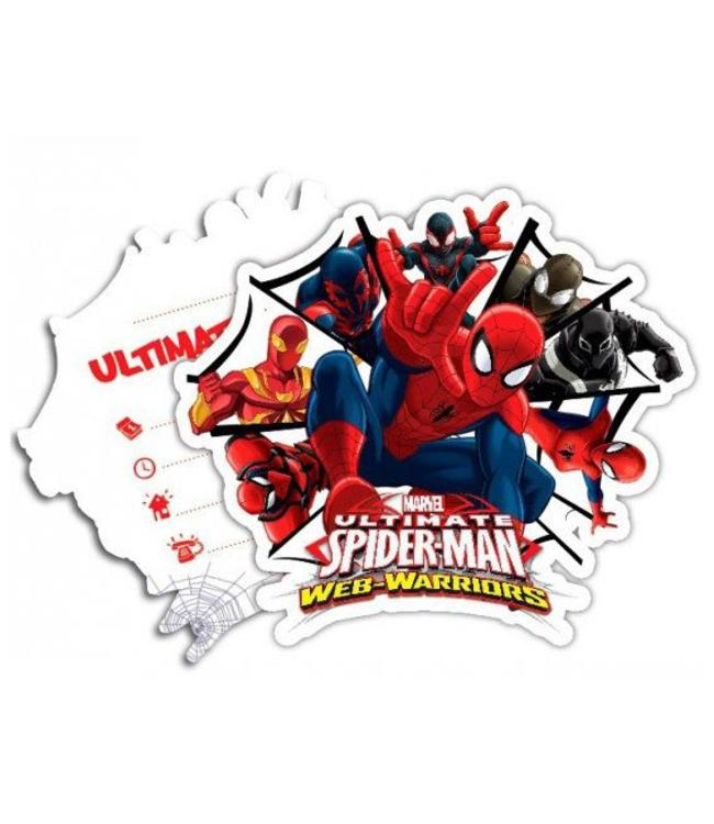 Spiderman Web-Warriors Uitnodigingen - 6 stuks