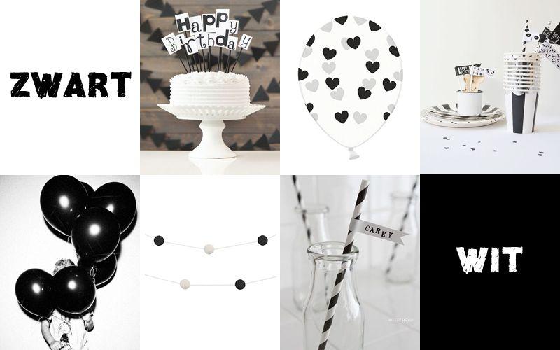 Trend: Zwart & wit voor een kinderfeestje