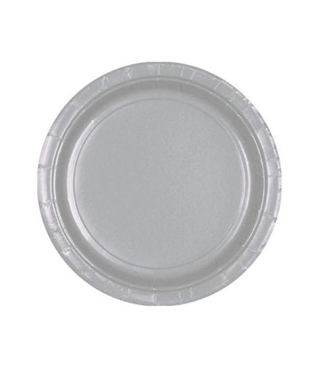 Unique Zilveren Bordjes - 8 stuks - 18 cm