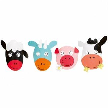 Amscan Boerderij Fun Maskers - 8 stuks