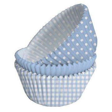 Creative Party Cupcake Cups Lichtblauw en Wit - 75 stuks