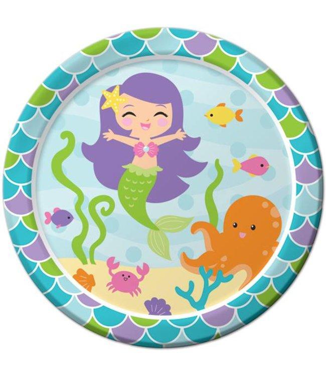 Creative Party Mermaid Friends Borden - 8 stuks - 23 cm