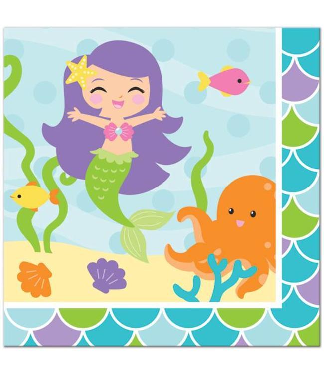 Creative Party Mermaid Friends Servetten - 16 stuks