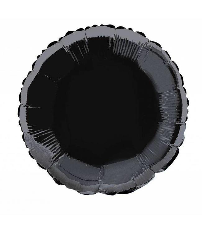 Unique Folieballon Rond Zwart - 46 cm