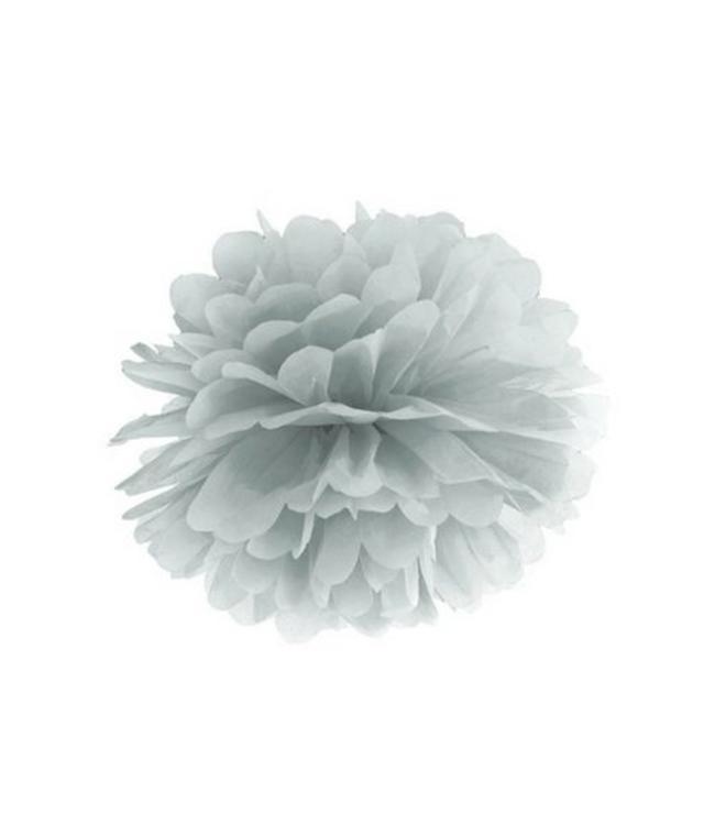 Partydeco Pom Pom Zilver (2 maten) - 25 en 35 cm - per stuk
