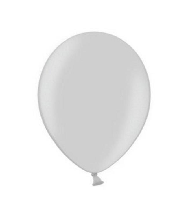 Partydeco Metallic Ballonnen Zilver - 10 stuks - 30 cm