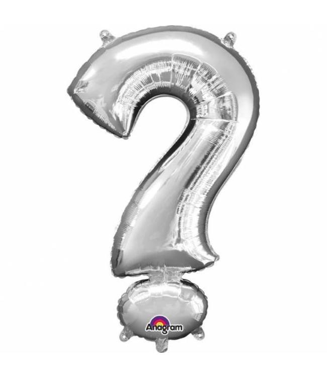 Amscan Mini Symbool Folieballon Zilver (per stuk) - 33 cm