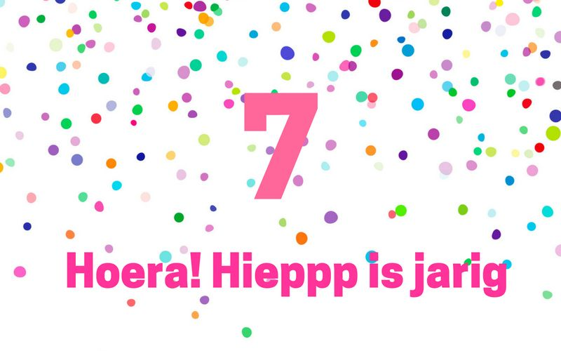 Hoera! Hieppp is jarig. Join the party!