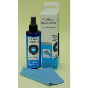 Simply Analog Flatscreen Cleaner 200 ml, including microfiber cloth