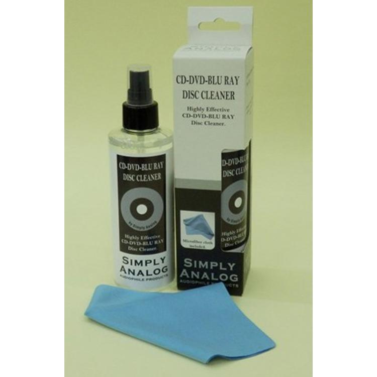 Simply Analog CD-DVD-Blu Ray Disc Cleaner Alcohol-Free 200ml + Microfiber Cloth