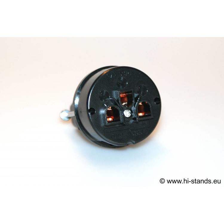 IeGo IEC Geräteanschlussstecker Reines Kupfer 8055 BK (Cu)