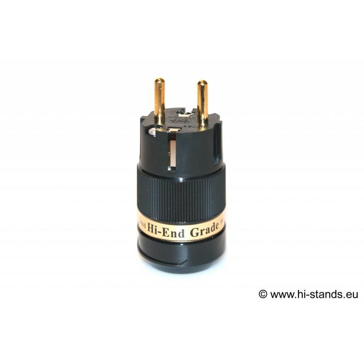 IeGo IEC Plug Gold plated 8085 BK (Gu)