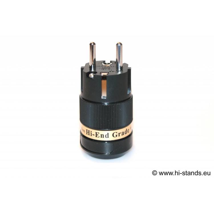 IeGo IEC Plug Rhodium plated 8075 BK (Ru)