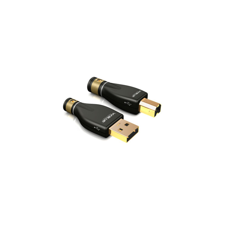 ViaBlue KR-2 Zilver USB-kabel Type A / B