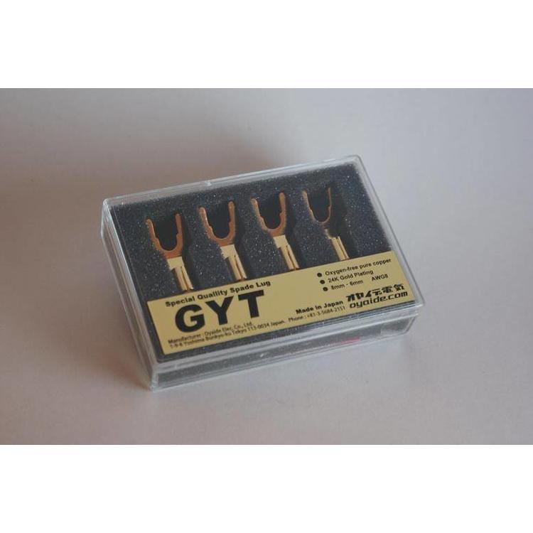 Oyaide GYT Spade, 24K gold (4 Pieces)