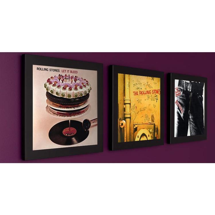 Art Vinyl 3 x Play & Display - Schwarz