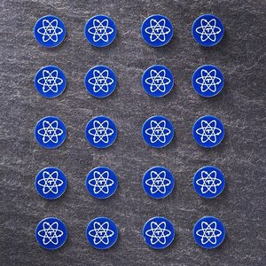 Telos Audio Design Rare Earth Elem. Stickers  Round 5 & Square 6 mm