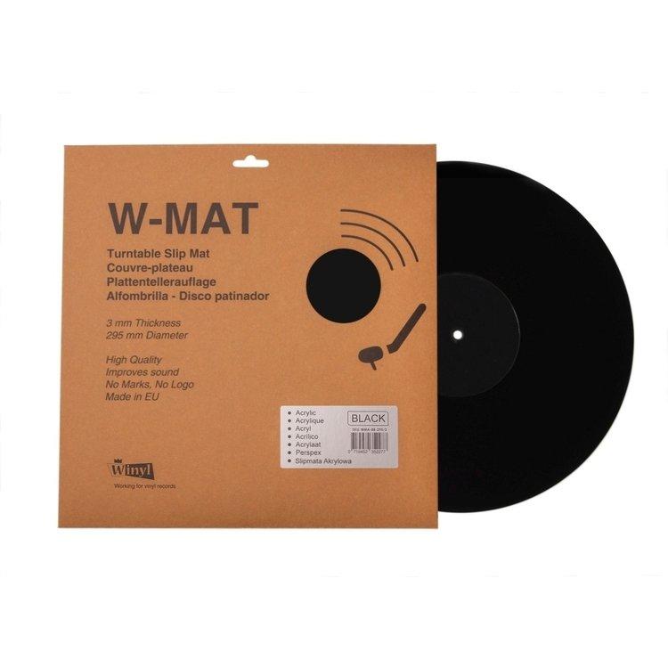 Winyl W-Mat Acryl mat Zwart-Zwart
