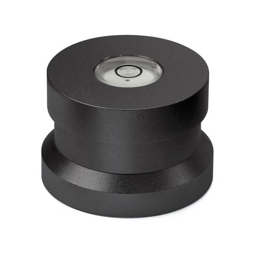 Dynavox Aluminum puck with spirit level (black)