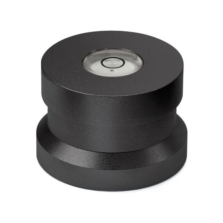 Dynavox Aluminum puck with spirit level (black)