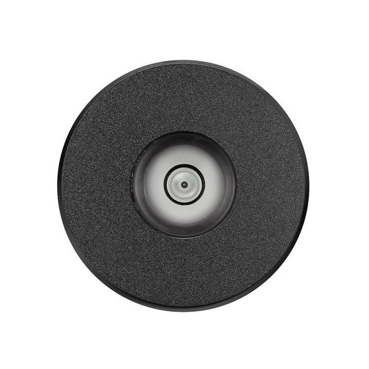 Dynavox Aluminiumpuck mit Wasserwaage (schwarz)