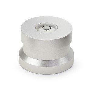 Dynavox Aluminiumpuck mit Wasserwaage (Silber)