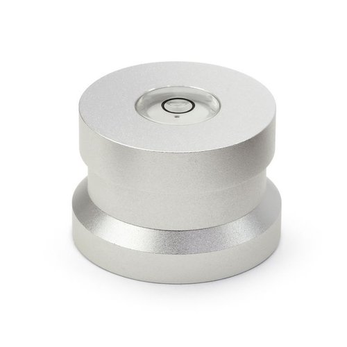 Dynavox Aluminum puck with spirit level (Silver)