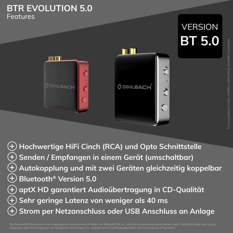 Oehlbach BTR Evolution 5.0 Red - Silver