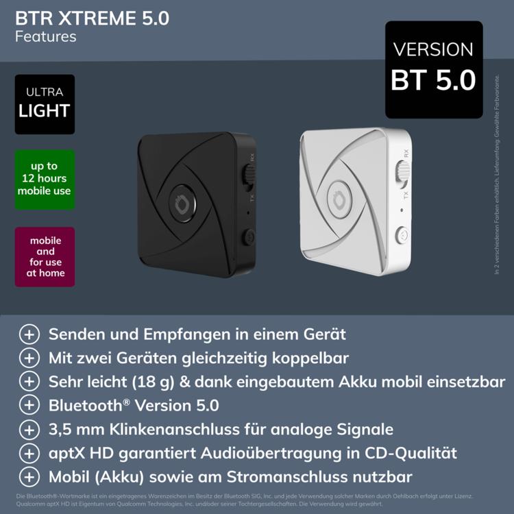 Oehlbach BTR Xtreme 5.0 Weiß