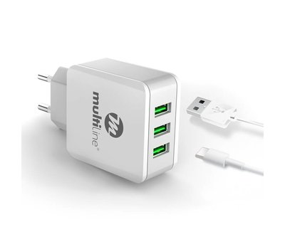 Multiline 3 Port USB Charger 3.1A