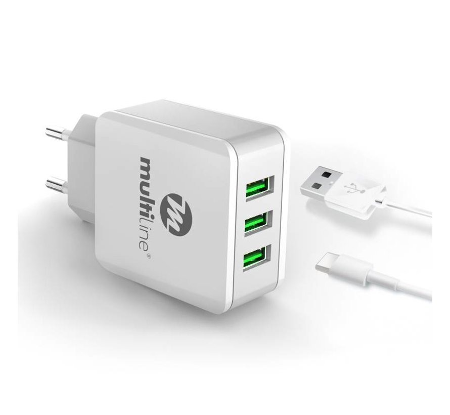 3 Port USB Charger 3.1A