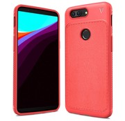 OPPRO LeatherGrip Case Red OnePlus 5T