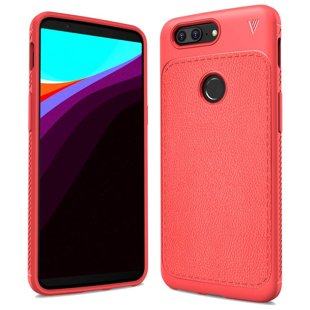 wholesale dealer c4487 6d557 OPPRO leathergrip case red OnePlus 5T | Great design
