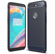 OPPRO Carbon Design Hülle Blue OnePlus 5T