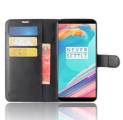 OPPRO Wallet Flip Case Zwart OnePlus 5T
