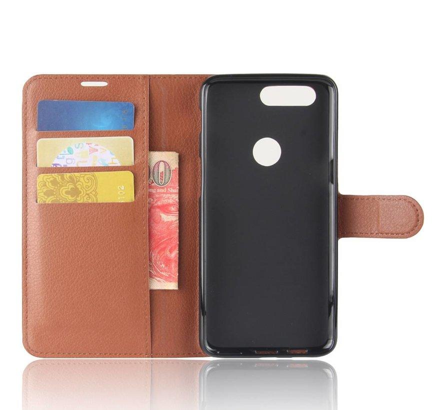 Brieftasche Flip Case Braun OnePlus 5T
