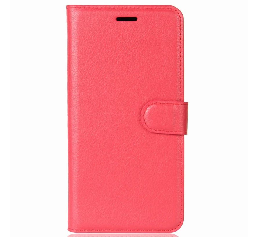 Wallet Flip Case Red OnePlus 5T