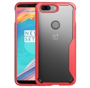 OPPRO Hybrid Bumper Case Red OnePlus 5T