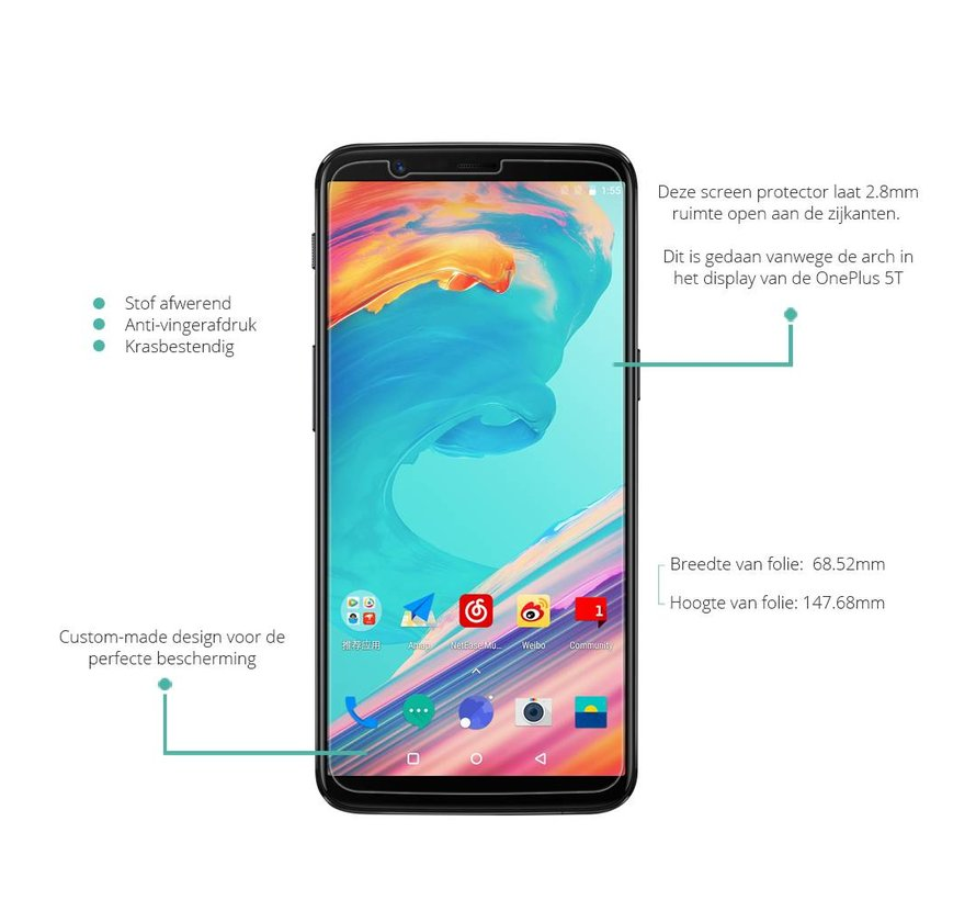 Ultra Clear Displayschutz OnePlus 5T
