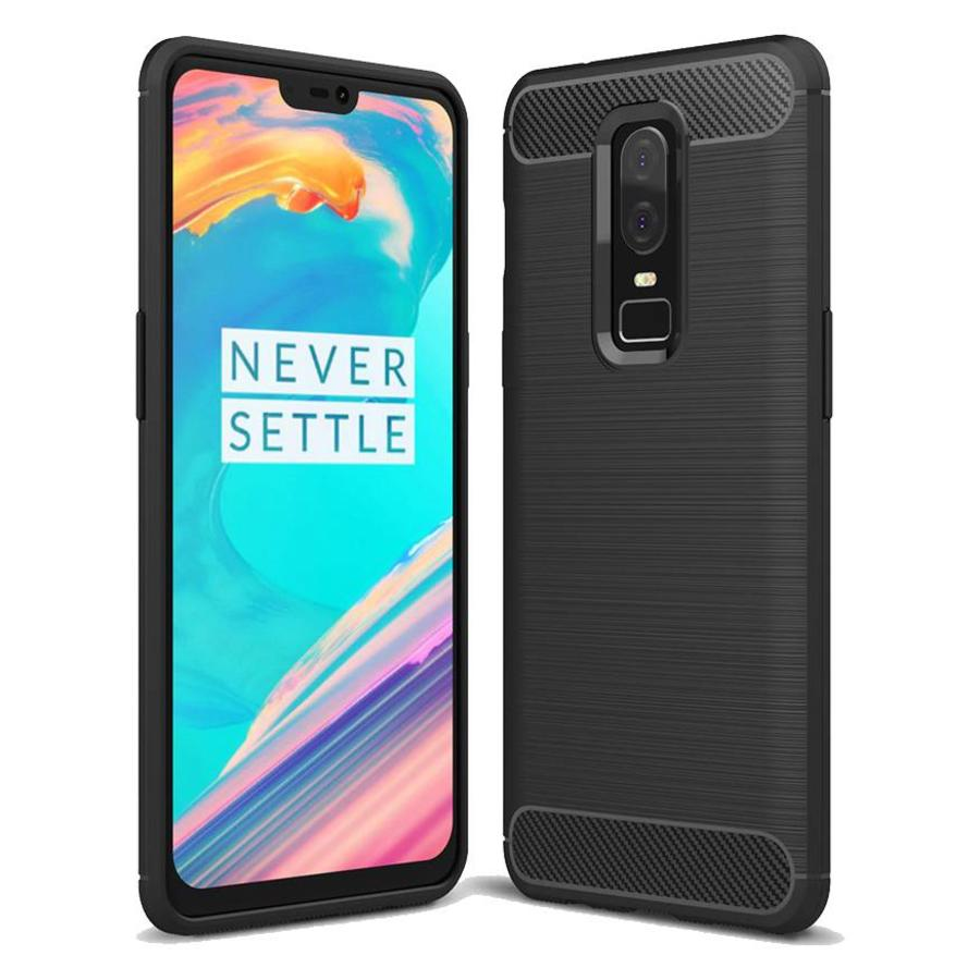 Brushed Carbon Case Black OnePlus 6