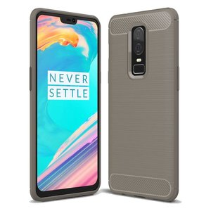 OPPRO Brushed Carbon Case Gray OnePlus 6