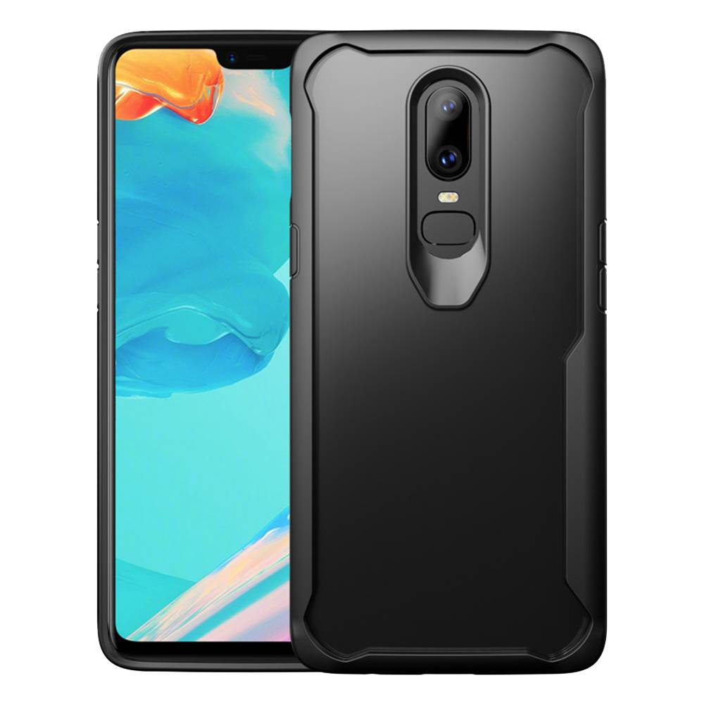 reputable site 61130 0b648 OPPRO Hybrid Bumper Case Black OnePlus 6