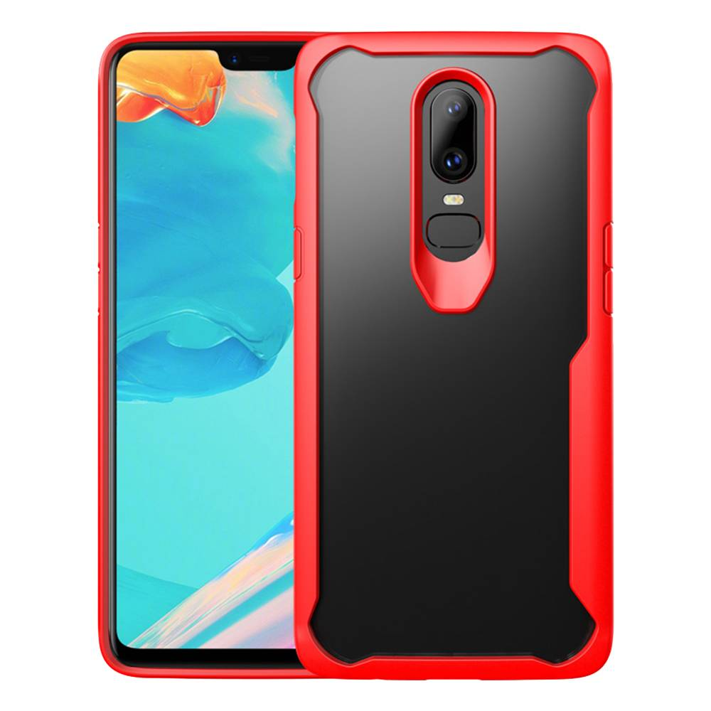 detailed look e34eb dfb0c OPPRO Hybrid Bumper Case Red OnePlus 6