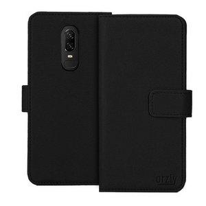 Orzly Wallet Flip Case Zwart OnePlus 6