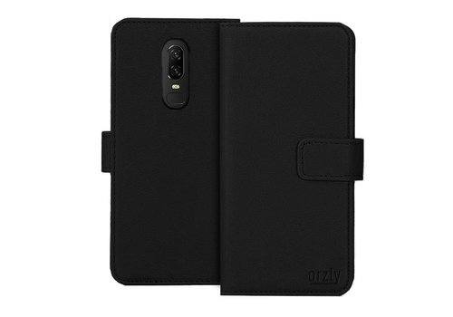 Orzly Wallet Flip Case Black OnePlus 6