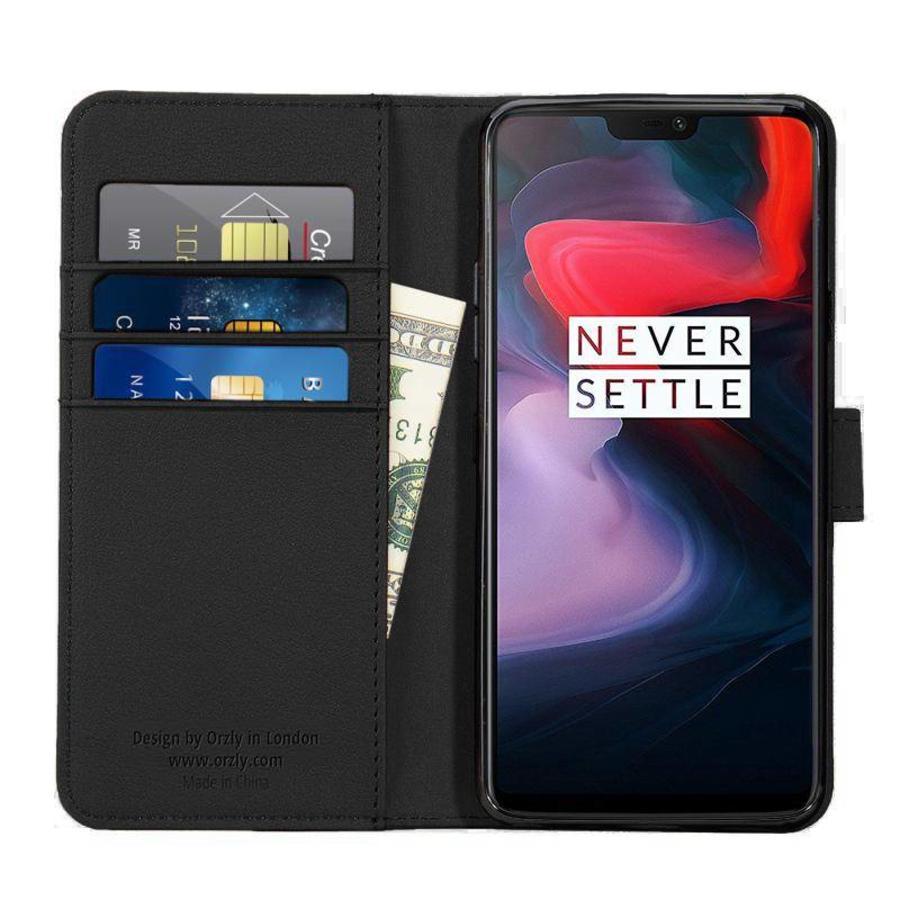 Wallet Flip Case Zwart OnePlus 6