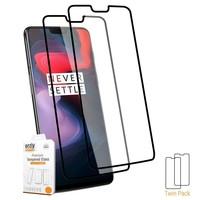 MOFI Canvas Design Flip Case Zwart OnePlus 6