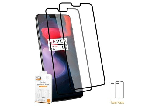 Orzly 9H Pro-Fit Glazen Screen Protector 2-pack OnePlus 6