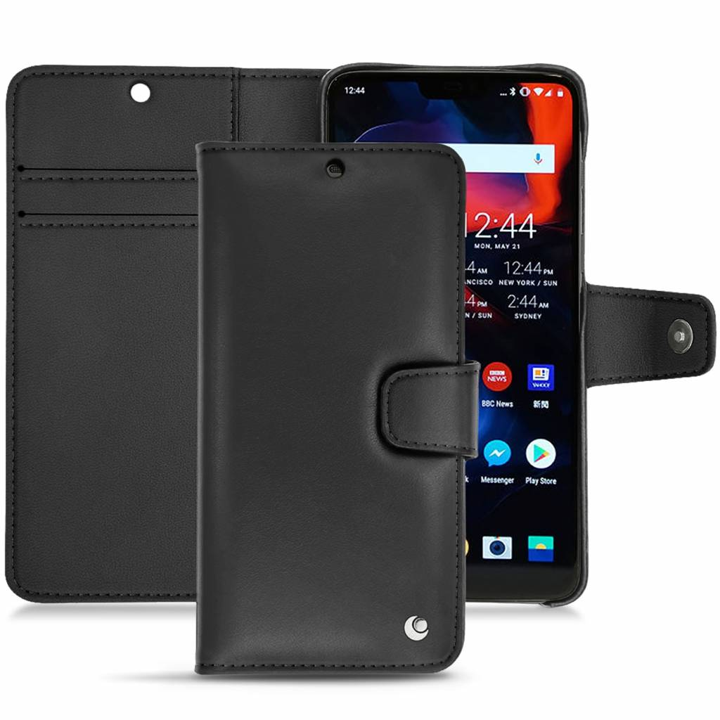 best website 3ddcd c4852 Noreve Tradition B Leather Case Black OnePlus 6