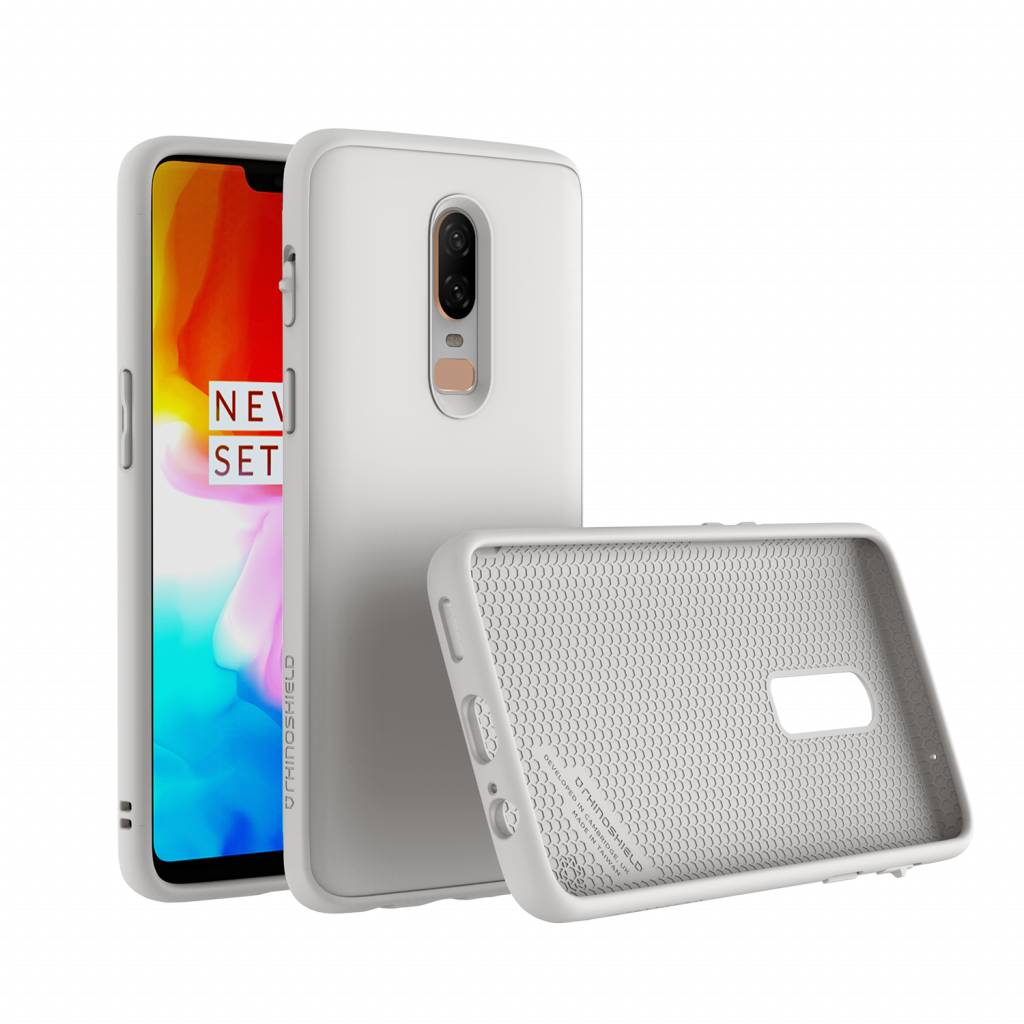timeless design 6f242 b64f3 RhinoShield SolidSuit Case White OnePlus 6